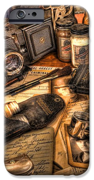 The Identification Bureau - Police Officer iPhone Case by Lee Dos Santos