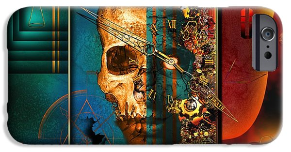 Clockwork iPhone Cases - The Inconceivability Of The Being iPhone Case by Franziskus Pfleghart