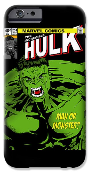 Hulk iPhone Cases - The Incredible Hulk iPhone Case by Mark Rogan