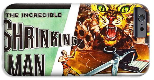 Trailer iPhone Cases - The Incredible Shrinking Man Poster iPhone Case by Gianfranco Weiss