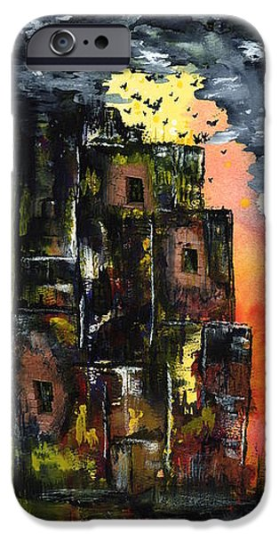 Haunted House iPhone Cases - The Inferno iPhone Case by Linda Wimberly