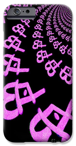 3.14 iPhone Cases - The Infinity of Pi iPhone Case by Kim Peto