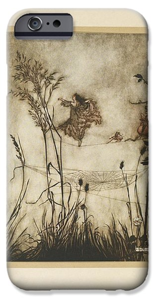 1907 Paintings iPhone Cases - The Ingoldsby Legends iPhone Case by Arthur Rackham