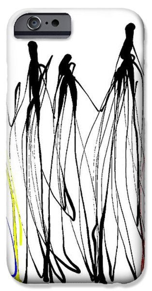 The Ink that Binds iPhone Case by Michael Pace