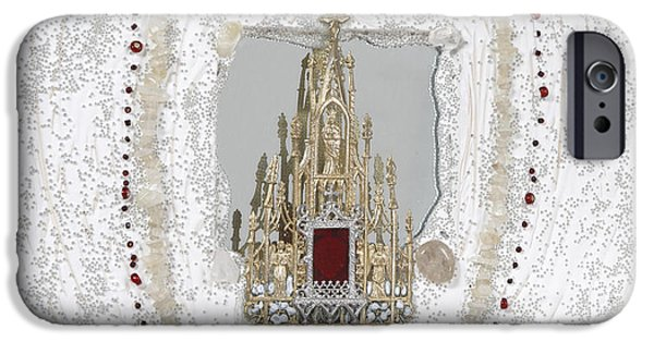 Sacred Art Reliefs iPhone Cases - The inner church iPhone Case by Heidi Sieber