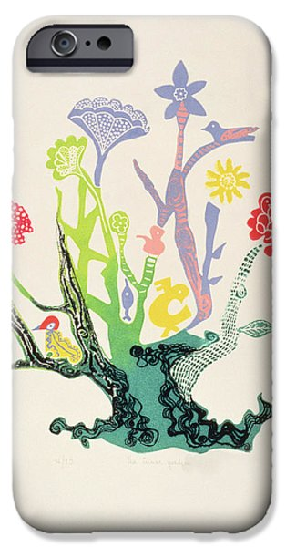 Berry iPhone Cases - The Inner Garden Etching iPhone Case by Carmen Gracia