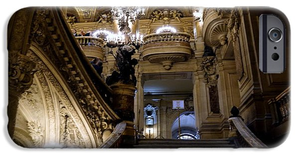Ballet Of Colors iPhone Cases - The Interior Beauty Of the Palais Garnier In Paris France iPhone Case by Richard Rosenshein