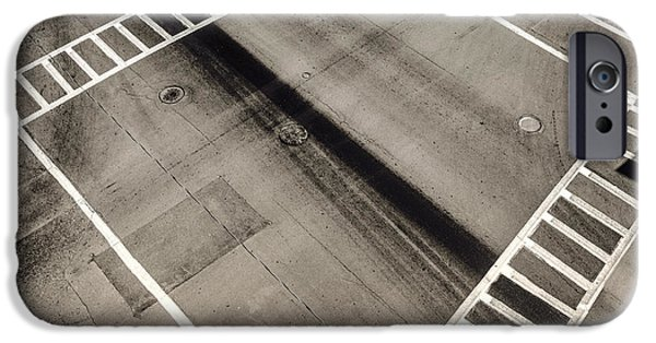 Asphalt iPhone Cases - The Intersection iPhone Case by Ryan McGuire