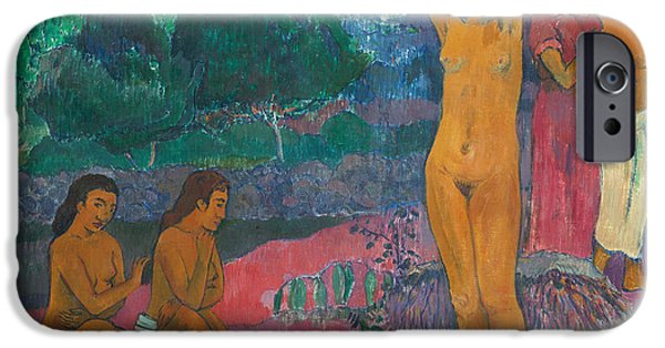 Erotica Paintings iPhone Cases - The Invocation iPhone Case by Paul Gauguin