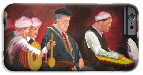 Baghdad Paintings iPhone Cases - The Iraqi maqam iPhone Case by Rami Besancon
