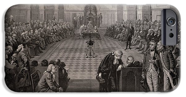 Politician iPhone Cases - The Irish House Of Commons, Ad 1790, College Green, Dublin, From The Illustrated London News, 4th iPhone Case by Henry Barraud