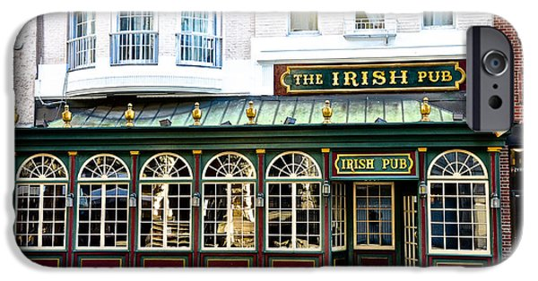 Phillies Digital iPhone Cases - The Irish Pub - Philadelphia iPhone Case by Bill Cannon