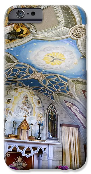 Baby Jesus iPhone Cases - The Italian Chapel Mural Orkney iPhone Case by Tim Gainey