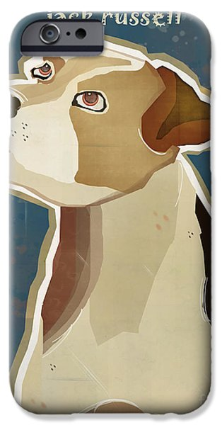 Jack Russell iPhone Cases - The Jack Russell iPhone Case by Bri Buckley