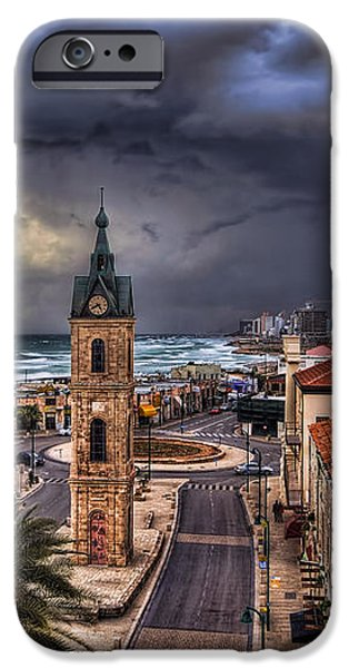 the Jaffa old clock tower iPhone Case by Ronsho