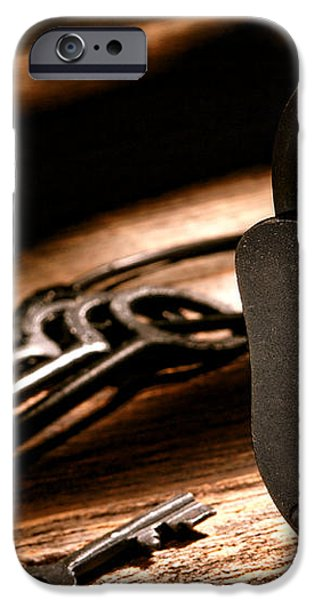 The Jailer Lock iPhone Case by Olivier Le Queinec