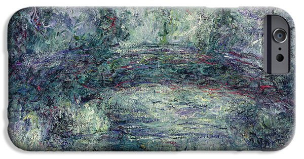 Artist Photographs iPhone Cases - The Japanese Bridge, 1918-19 Oil On Canvas See Detail 382336 iPhone Case by Claude Monet