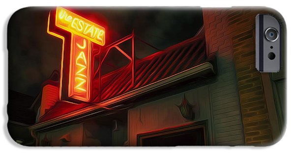 Venue iPhone Cases - The Jazz Estate iPhone Case by Scott Norris