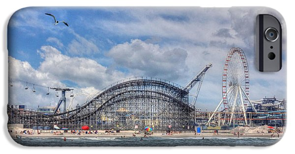 Amusements iPhone Cases - The Jersey Shore iPhone Case by Lori Deiter
