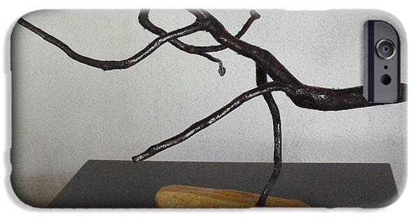 Jesus Sculptures iPhone Cases - The Jesus Christ Lizard iPhone Case by Vele Bezzo