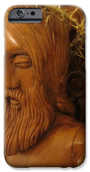 Jesus Reliefs iPhone Cases - The Jesus Christ Sculpture Wood Work Wood Carving Poplar Wood Great For Church 3 iPhone Case by Persian Art