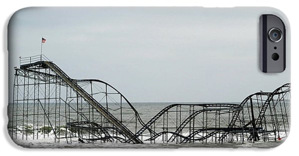 Jetstar Photographs iPhone Cases - The JetStar Rollercoaster In Seaside Heights NJ iPhone Case by Living Color Photography Lorraine Lynch