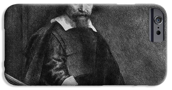 Rembrandt Drawings iPhone Cases - The Jew With The Banister iPhone Case by Rembrandt Van Rijn