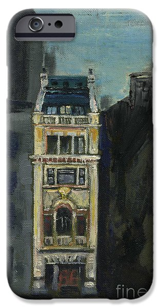 Printmaking iPhone Cases - The Jewel of the City.  iPhone Case by Cathy Peterson