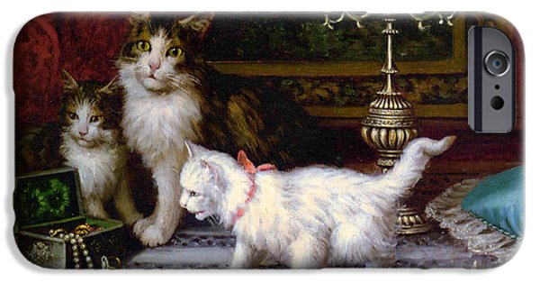 House Pet Digital Art iPhone Cases - The Jewelry Box iPhone Case by Jules Leroy