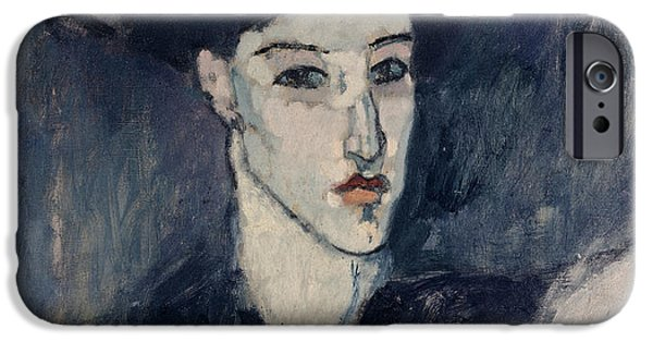 Clemente Paintings iPhone Cases - The Jewess iPhone Case by Amedeo Modigliani