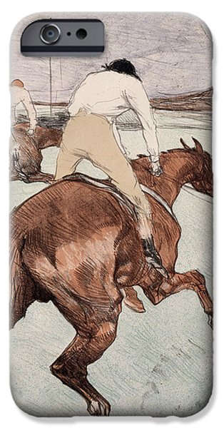 Toulouse-lautrec Drawings iPhone Cases - The Jockey iPhone Case by Henri de Toulouse-Lautrec