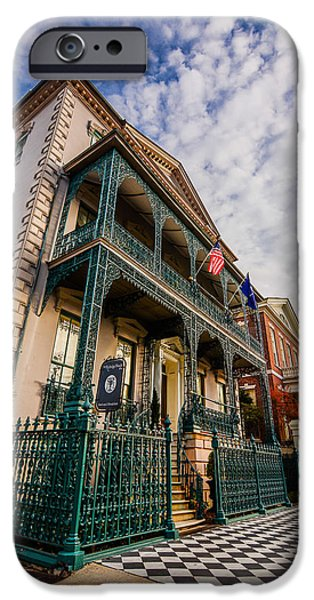 Constitution iPhone Cases - The John Rutledge House Inn iPhone Case by Wendy Mogul