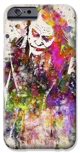 Mad iPhone Cases - The Joker iPhone Case by Aged Pixel