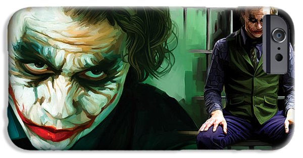 Dark Knight iPhone Cases - The Joker Artwork iPhone Case by Sheraz A