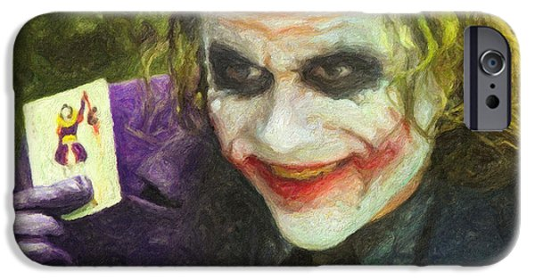 Ledger; Book iPhone Cases - The Joker iPhone Case by Taylan Soyturk