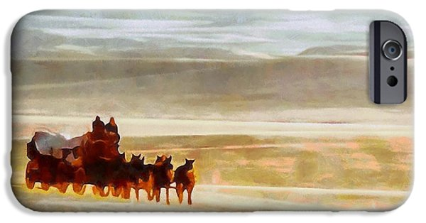 The Cowboy iPhone Cases - The Journey Out West iPhone Case by Dan Sproul