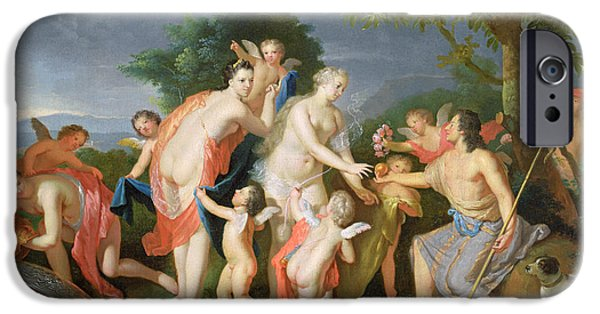 Hera iPhone Cases - The Judgement Of Paris iPhone Case by Gerard Hoet