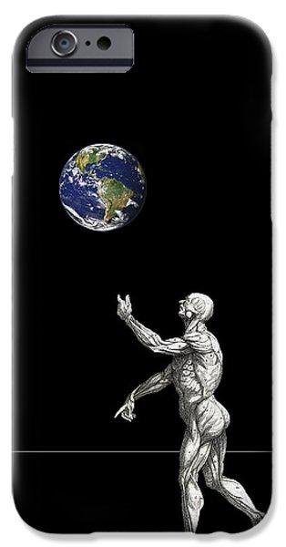 Jugglers iPhone Cases - The Juggler iPhone Case by Daniel Hagerman