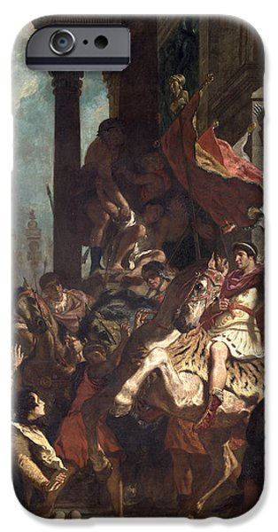 Begging iPhone Cases - The Justice Of Trajan 53-117 1840 Oil On Canvas iPhone Case by Ferdinand Victor Eugene Delacroix