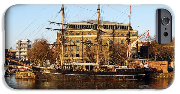 Tall Ship iPhone Cases - The Kaskelot in Bristol Dock iPhone Case by Terri  Waters