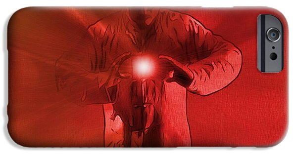 Concentration Digital iPhone Cases - The Keeper Of The Light iPhone Case by Dan Sproul