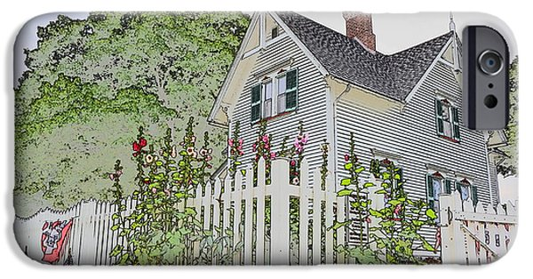Pen And Ink Photographs iPhone Cases - The Keepers House iPhone Case by Jim Steinmiller