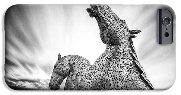 Helix iPhone Cases - The Kelpies iPhone Case by John Farnan