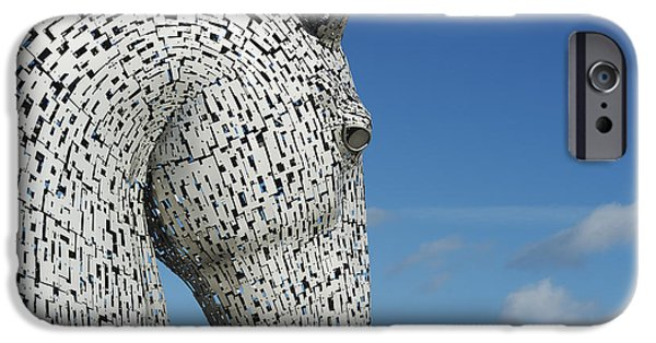 The Horse iPhone Cases - The Kelpies iPhone Case by Tim Gainey