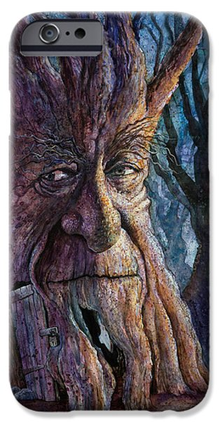 Creatures Paintings iPhone Cases - The Key iPhone Case by Frank Robert Dixon