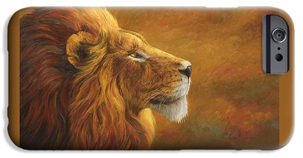 Lion iPhone Cases - The King iPhone Case by Lucie Bilodeau