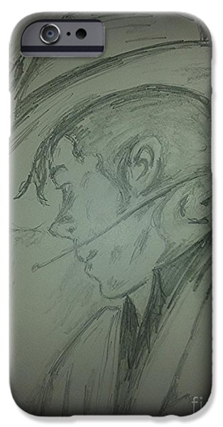 Michael Jackson Sketch iPhone Cases - The King of pop iPhone Case by Collin A Clarke