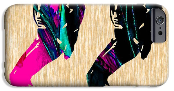 Michael Mixed Media iPhone Cases - The King Of Pop Michael Jackson iPhone Case by Marvin Blaine