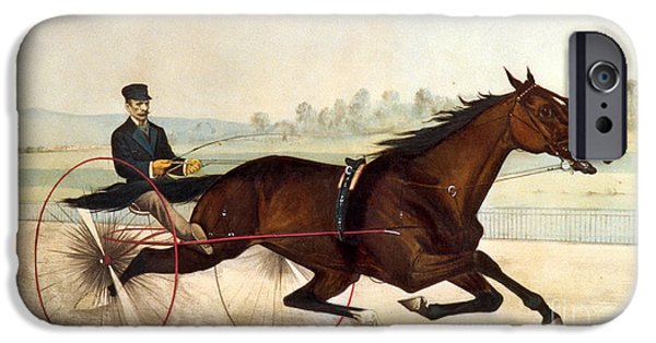 Currier iPhone Cases - The King of the Turf iPhone Case by Currier And Ives