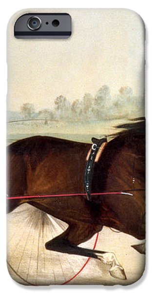 The King of the Turf iPhone Case by Currier And Ives